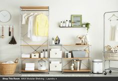 Shop This Room MAX Modular Shelving Laundry I Crate and Barrel