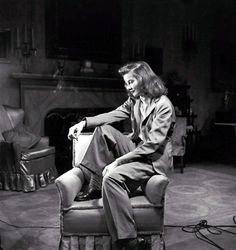Katharine Hepburn on set, The Philadelphia Story (George Cukor, 1940)