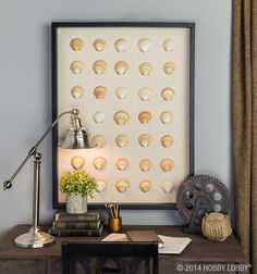 Frame shells in a display case for a 3D effect that's safe from little hands!