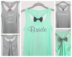 Hey, I found this really awesome Etsy listing at http://www.etsy.com/listing/156122821/flowy-wedding-bow-tank-top-set-3-11