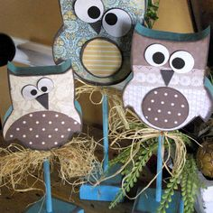 Wood Owl Trio