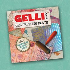 """I'm not much of a mixed media artist, but I have to say I LOVE my Gelli Arts gel printing plate."" Gel Printing Resist featuring Gelli Arts Plate and Distress Stains"