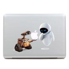 <3 Walle - Mac Decal Macbook Stickers Macbook Decals Apple Decal for Macbook Pro / Macbook Air / iPad /  iPad2 / iPad3 / iPhone. $8.50, via Etsy.