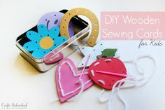 DIY Wooden Sewing Practice Shapes- full tutorial.