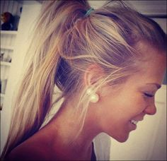 Messy Ponytail Hairstyle