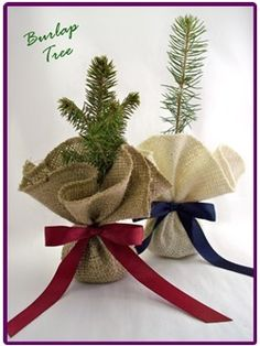 Burlap Tree favors