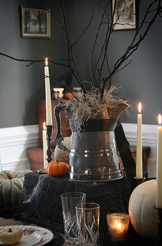 Halloween/Samhain - Dining room decorations.