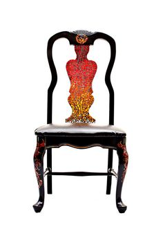 Phoenix accent chair with glass mosaic