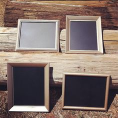 Antique Wedding Chalkboards Get picture frames and paint with chalk board paint - use for numbering tables, leave chalk on table for guest to write on?