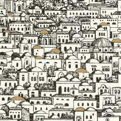 Cole And Son Mediterranea Wallpaper by Piero Fornasetti