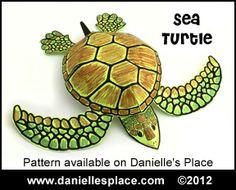 Paper Sea Turtle Craft from www.daniellesplace.com