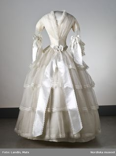 Swedish wedding dress, 1854.