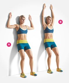 Don't be deceived: Wall slides take some serious core strength. Click through for directions PLUS 9 more ab exercises that beat crunches: http://www.womenshealthmag.com/fitness/abs-exercises
