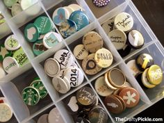 Organize your Flair buttons! More @TheCraftyPickle.com flair button