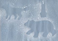 Polar Bear/Arctic Animals Silhouettes