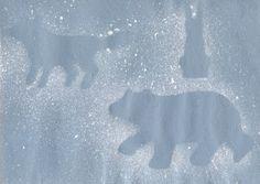 Polar Bear/Arctic Animals Silhouettes