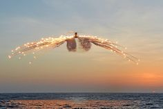 Merlin Helicopter Releasing Decoy Flares by Defence Images, via Flickr