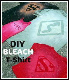 DIY Bleach T Shirt Tutorial | Six Sisters Stuff