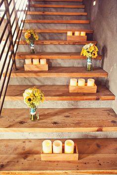 aqua & yellow wedding