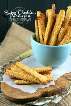 Spicy Cheddar Parmesan Cheese Straws