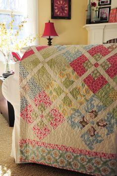 squar, quilt design, treasur, spring colors, quilt patterns
