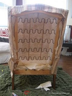 Guide for the wingback reupholstery