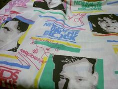 New Kids On the Block bedsheets! Memories for sure. NKOTB Childhood, 90s