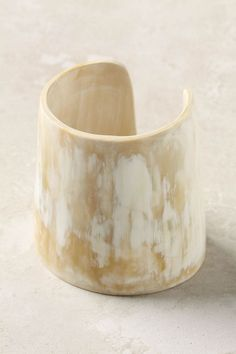 white horn cuff