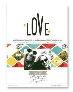 Love us. (Main only) by melanie louette at @studio_calico - 8.5x11 layout