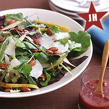Ww Baby Greens With Pears, Nuts And Parmesan