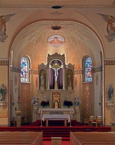 St. Peter's Catholic Church in St. Charles, Missouri  --  where I made all of my sacraments