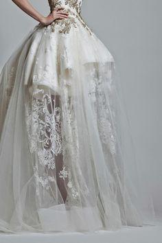 Elegant Adriana Montalvo wedding dress.