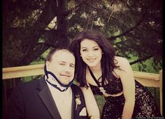 Rated #3 The Best father teen stories of 2012. After saving her daddy's life, she took him to prom. Danae Rodriguez and Tim Ebert (go to link and scroll down) Proud mama here! **tear**