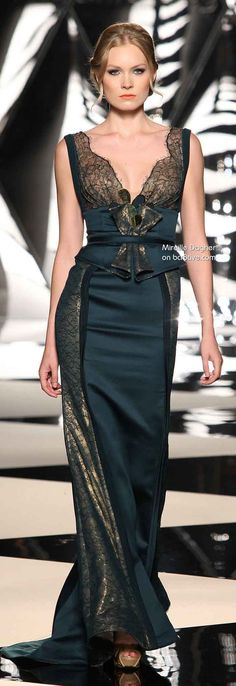 Mireille Dagher Fall Winter 2013-14 Haute Couture. Everything but the center!