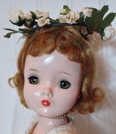 Madame Alexander Cissy Bride Doll Blond Hair Green Eyes 1950s #DollswithClothingAccessories