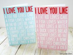 I Love You Like Printable Valentine Cards #valentines #day #free #printable