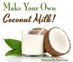 homemade milk coconut, homemade coconut drinks, food healthi, coconut milk recipes, homemad coconut, coconut flour, homemade organic coconut milk