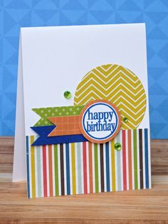 stamp sets, card idea, birthday card, pattern, simpl card