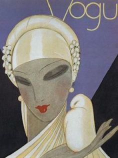 vintage 1920s wedding - bride wedding - Art_Deco_Vogue_Cover