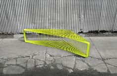 This bench design is interesting.