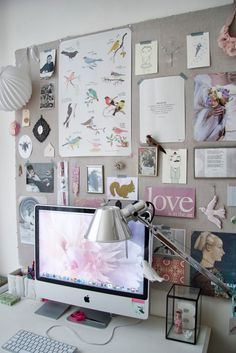 Inspiration & board work space.