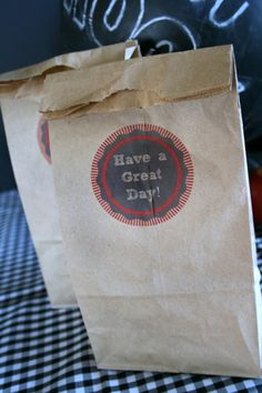 Printable Lunch Bags| TodaysCreativeBlog.net