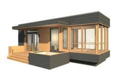 Tiny living with a screened porch and hot tub
