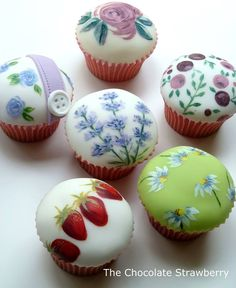 Painted Cupcakes