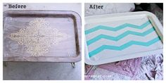 The Farmer's Nest: .25 cent tray makeover {DIY}