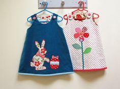 Petal Reversible Dress PDF Sewing Pattern by Felicity Sewing Patterns, girl's pdf sundress or jumper dress pattern sizes 6 months to 8 years...