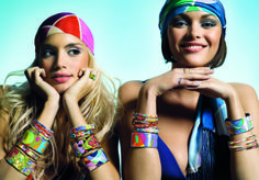 This campaign from 2007 expresses the real JOY OF LIFE. We love to wear as many bangles as can fit our arm.  freywille.com