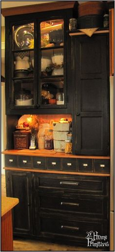 Primitive hutch - This piece took us years (believe it or not) to design and build.  I wanted to make sure I utilized every bit of space in ...