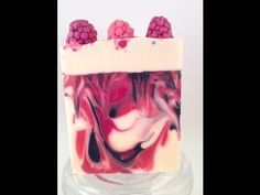 Making and cutting Black Raspberry Vanilla soap