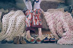 #Pom #Tassel #Moccasins #Slippers #Anthropologie